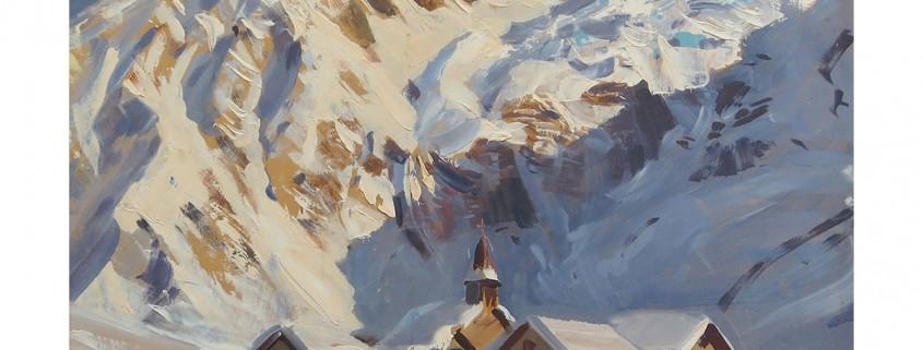 Village du Tour - vallée de Chamonix marcel wibault